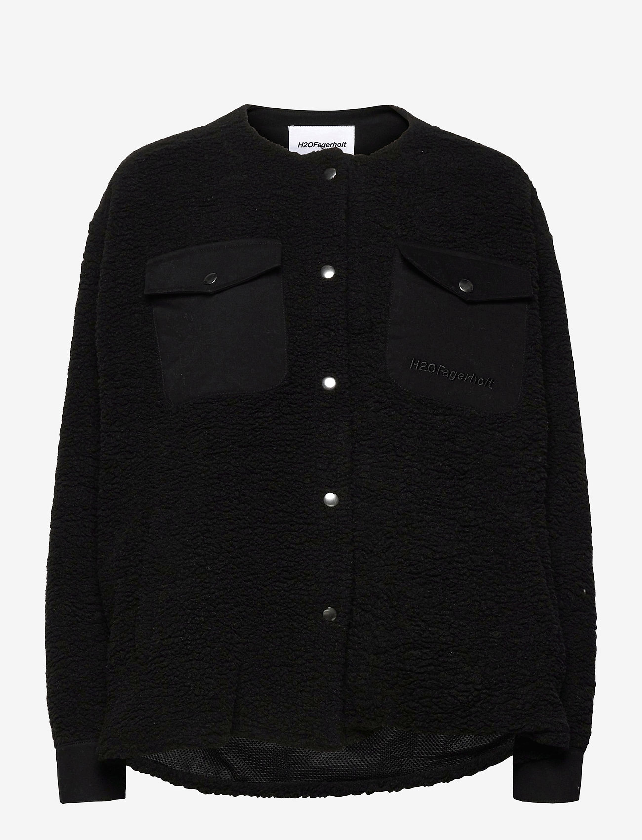 H2O Fagerholt - Checket Pile Shirt Jacket - sweatshirts en hoodies - black - 0