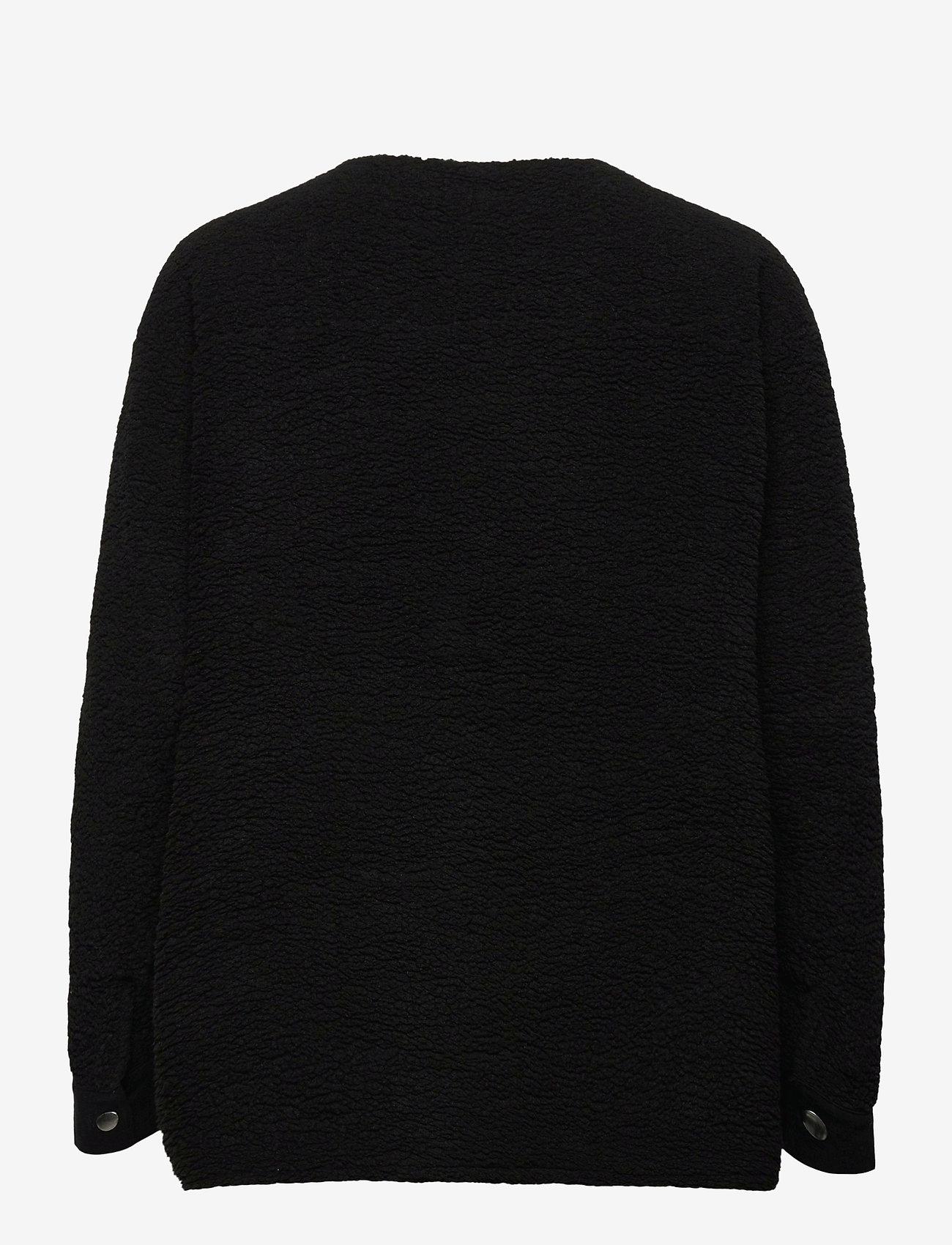 H2O Fagerholt - Checket Pile Shirt Jacket - sweatshirts en hoodies - black - 1