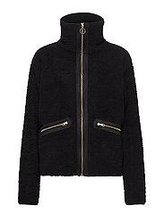 Yin and Yang Pile Jacket - BLACK