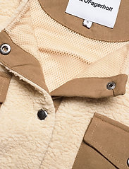 H2O Fagerholt - Checket Pile Shirt Jacket - sweatshirts en hoodies - beige - 2