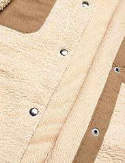 H2O Fagerholt - Checket Pile Shirt Jacket - sweatshirts en hoodies - beige - 3