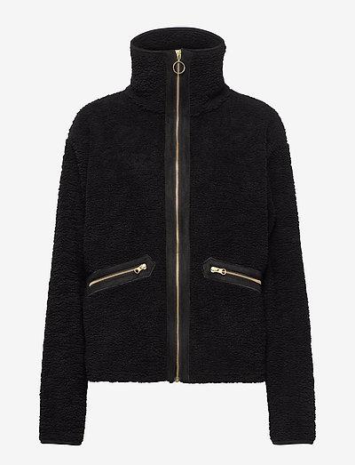 Yin and Yang Pile Jacket - sweatshirts & hættetrøjer - black