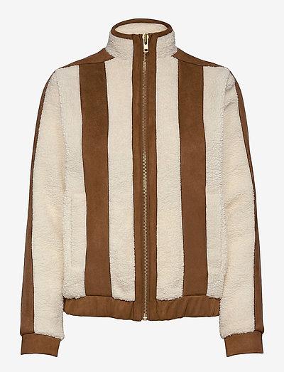 Pilot Pile Jacket - sweatshirts & hættetrøjer - off white