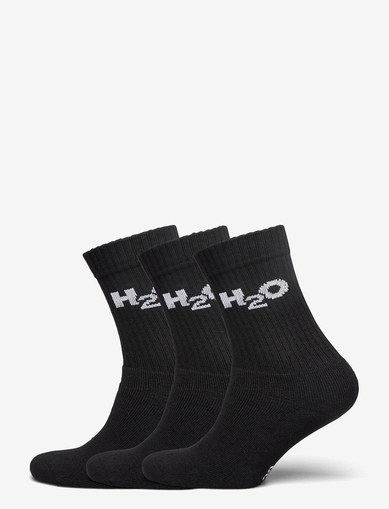 H2O - 3-Pack Sock - tavalliset sukat - black - 0