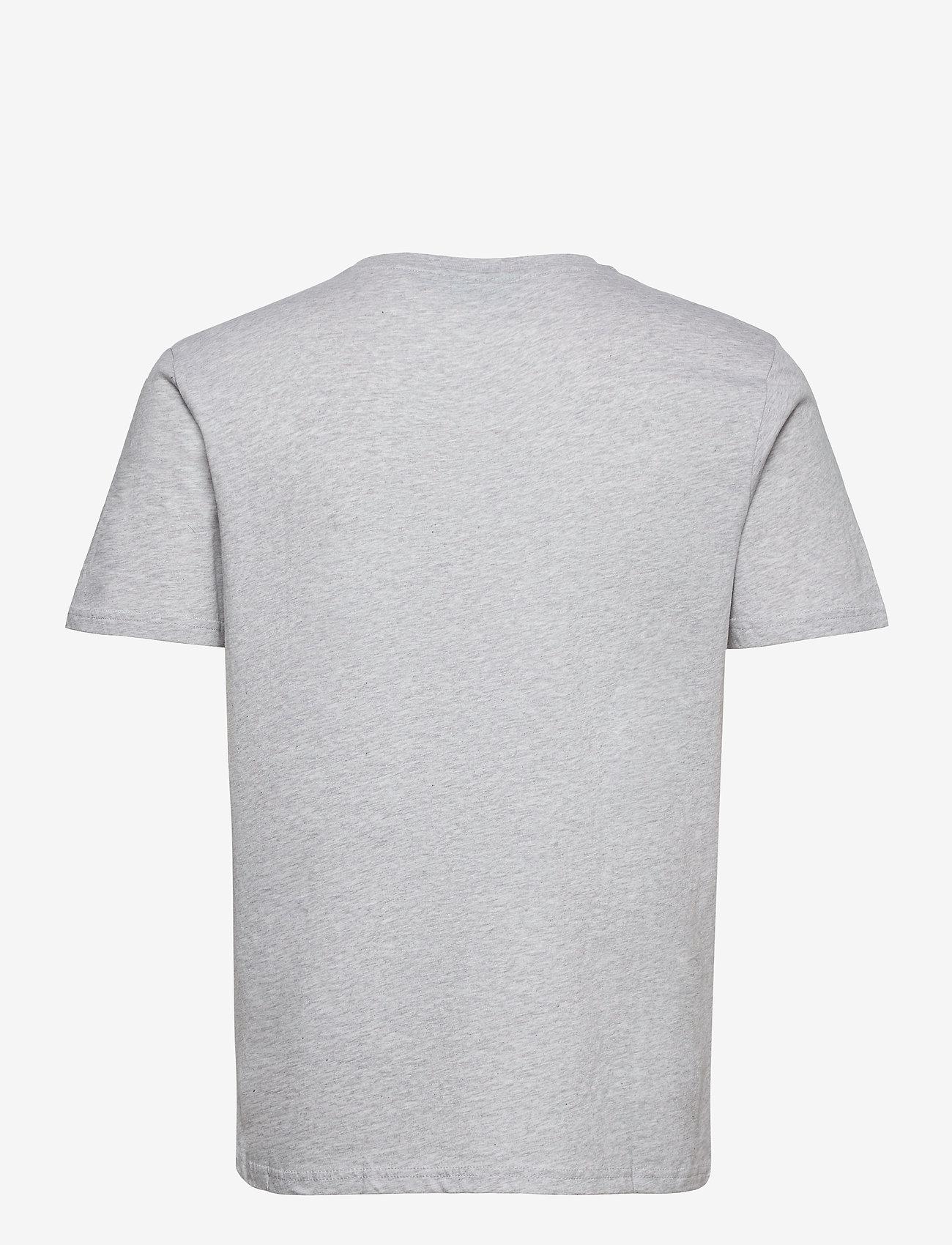 H2O - Lyø Organic Tee - basic t-shirts - lt. grey mel/red - 1