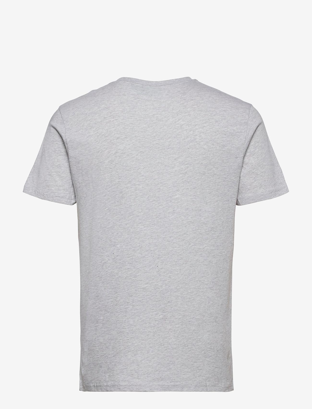 H2O - Lyø Organic Tee - basic t-shirts - lt. grey mel/sachet pink - 1