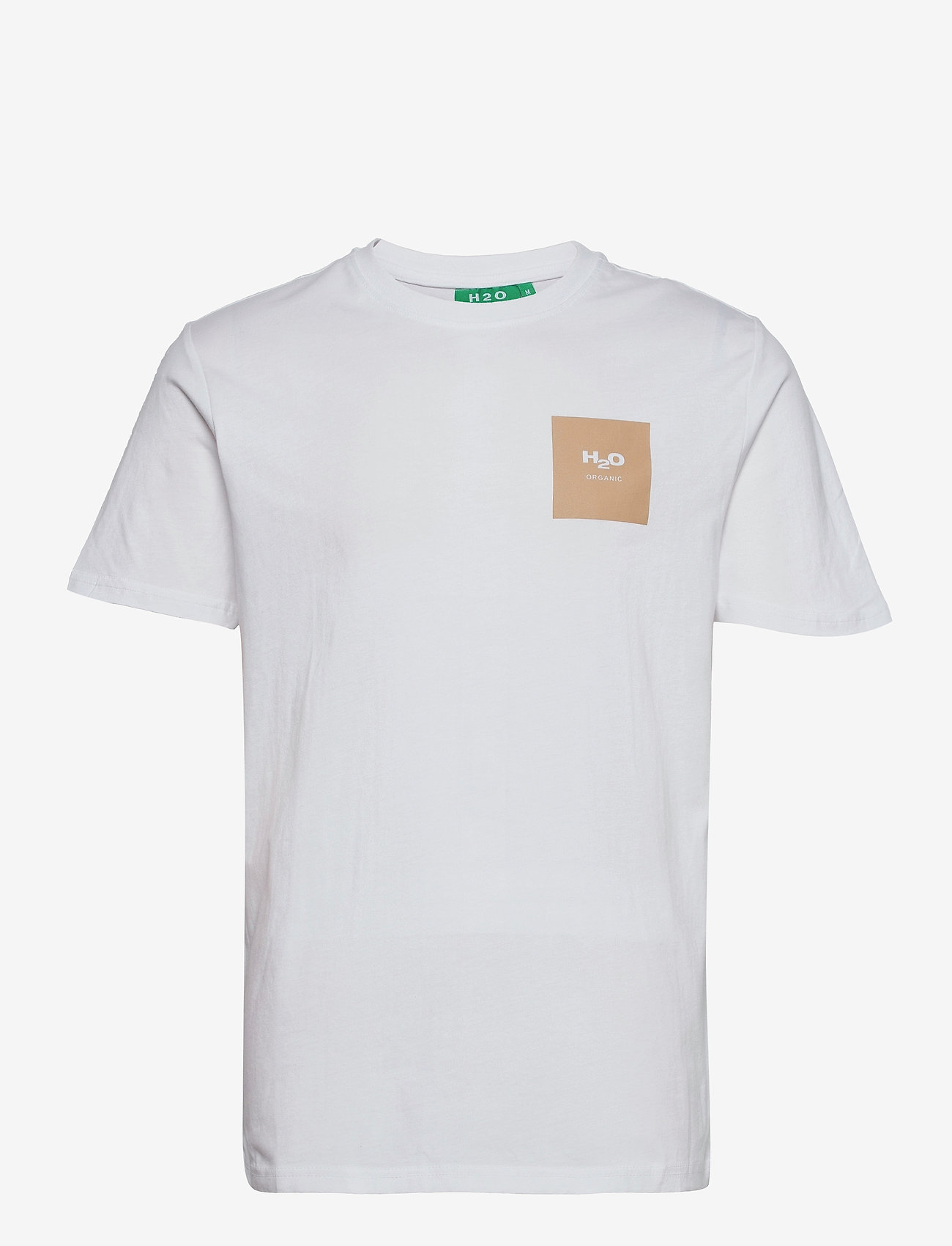 H2O - Lyø Organic Tee - basic t-shirts - white/sand - 0