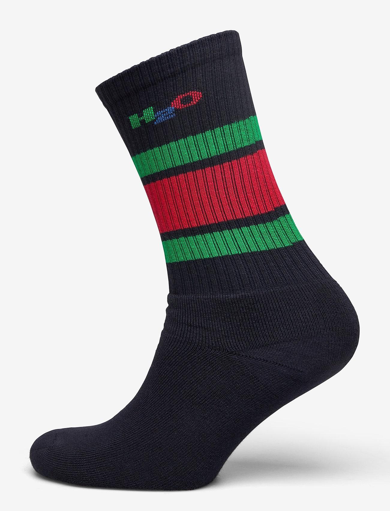 H2O - Crew Sock - tavalliset sukat - navy/green/red - 0