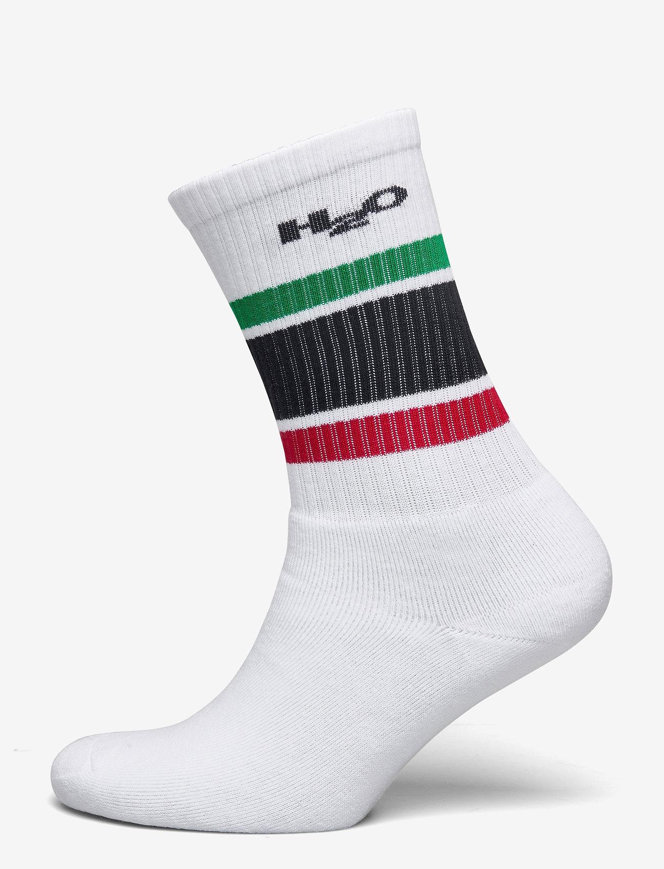 H2O - Crew Sock - tavalliset sukat - white/green/red/navy - 0