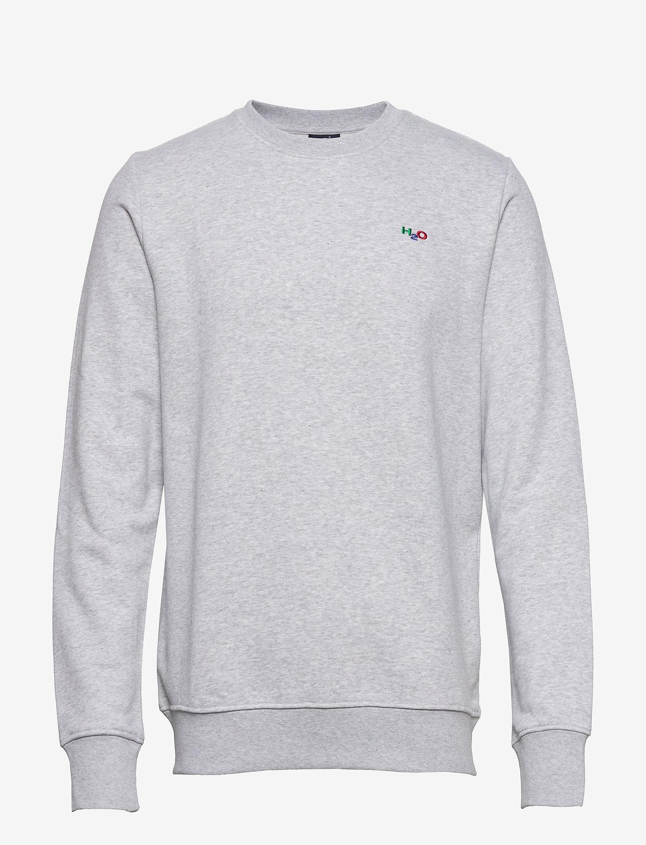 H2O - Lind Logo Sweat O'neck - basic sweatshirts - lt. grey mel - 0