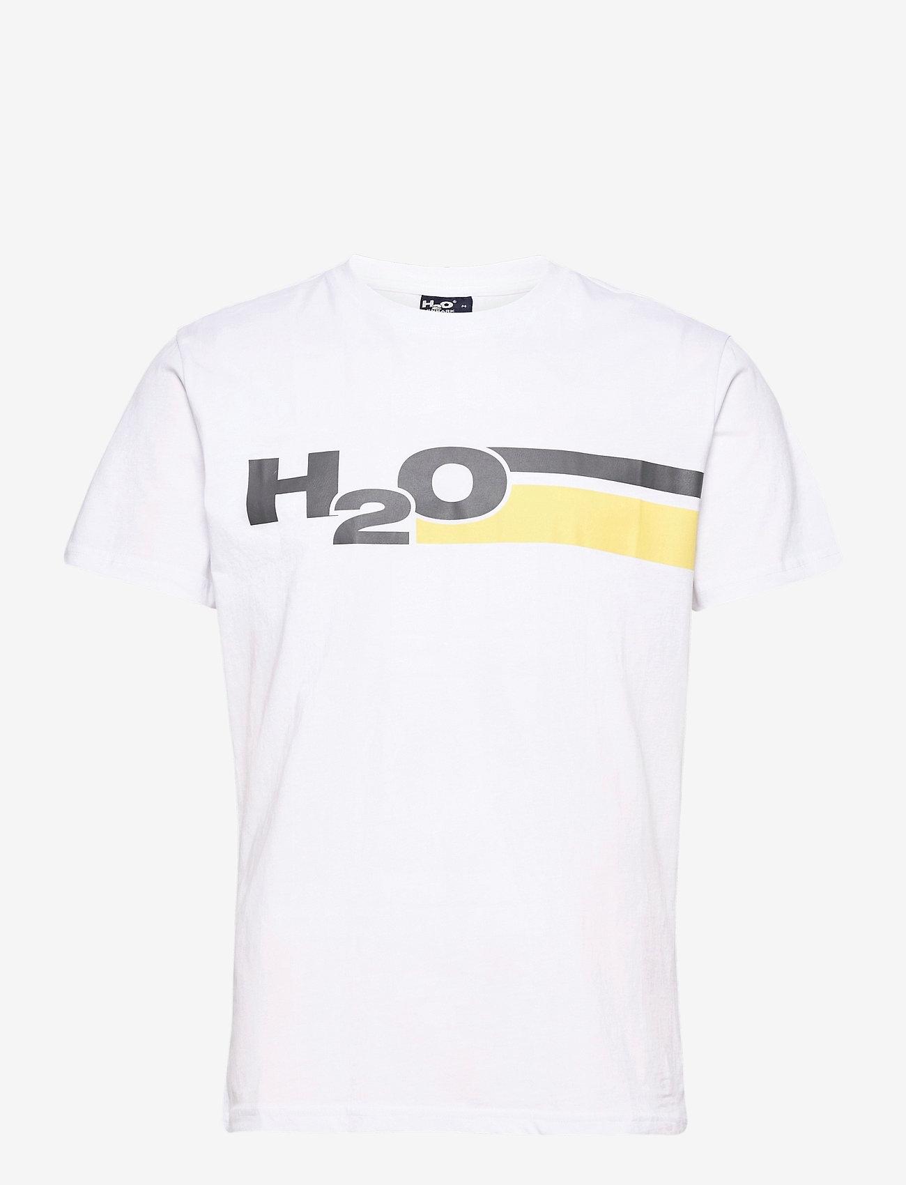 H2O - Skagen Tee - lyhythihaiset - white/concrete/citron - 0