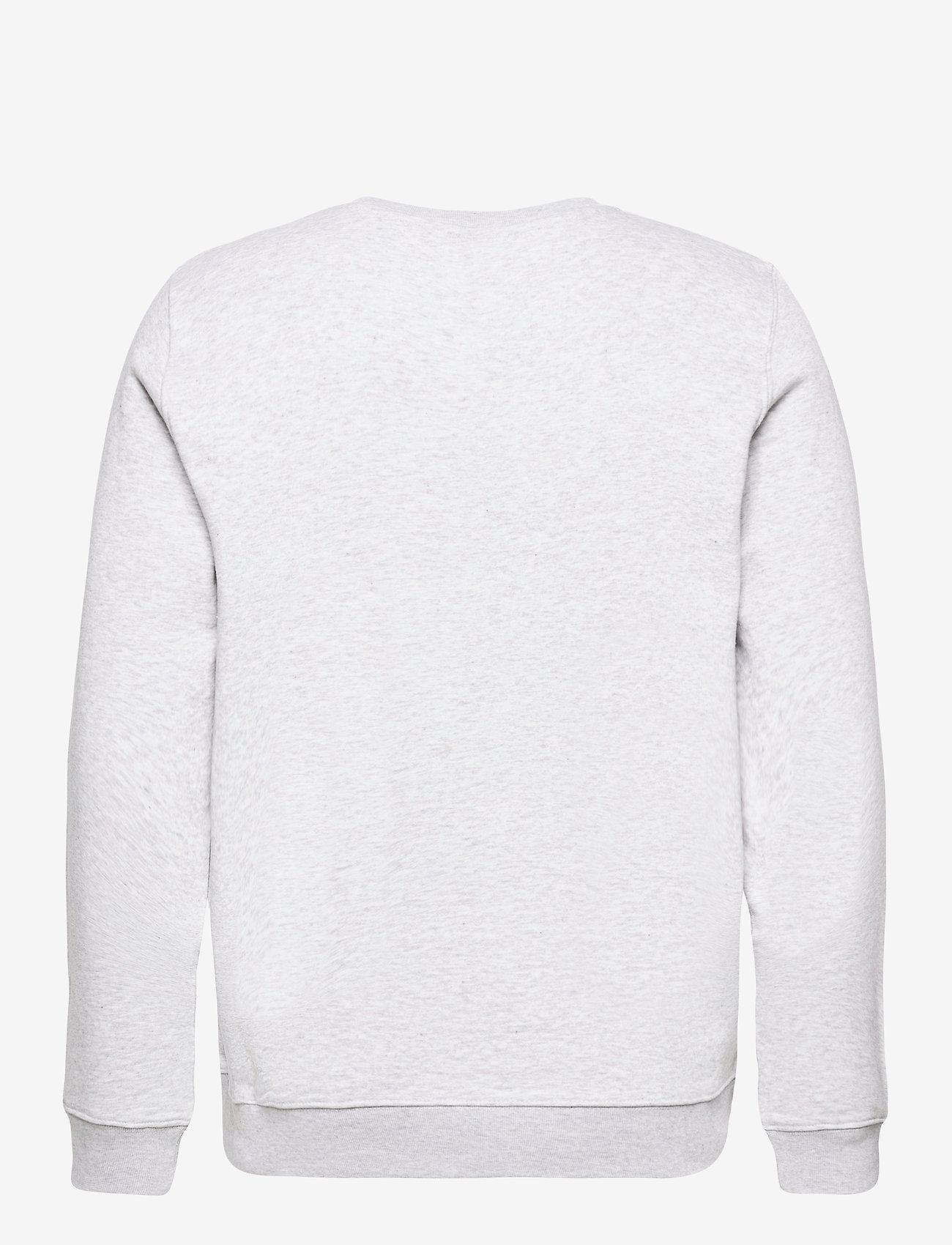 H2O Alban Sweat O'Neck - Sweatshirts LT. GREY MEL/CONCRETE/WHITE/CITRON - Menn Klær