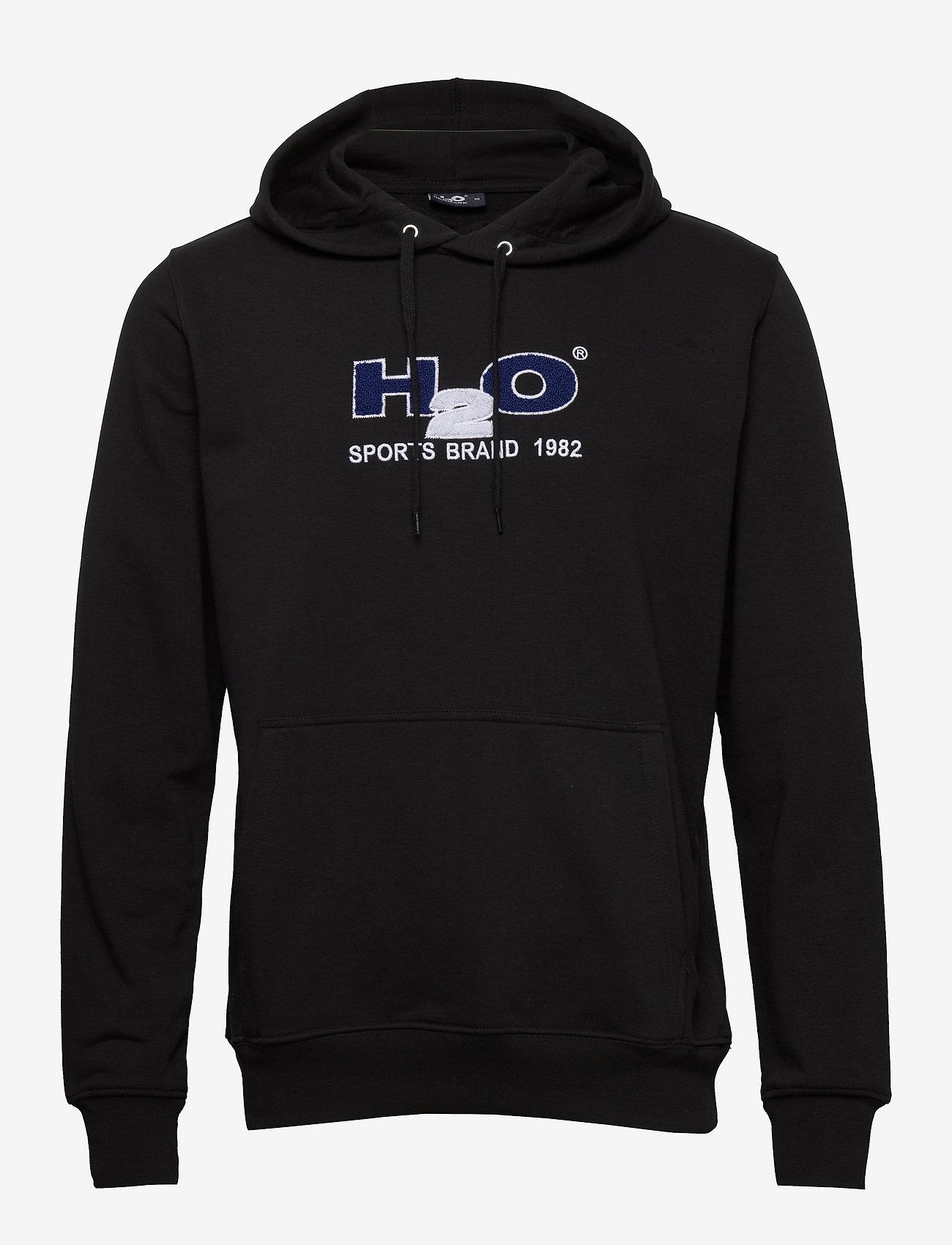 H2O - Absalon Hooded Sweat - hættetrøjer - black - 0
