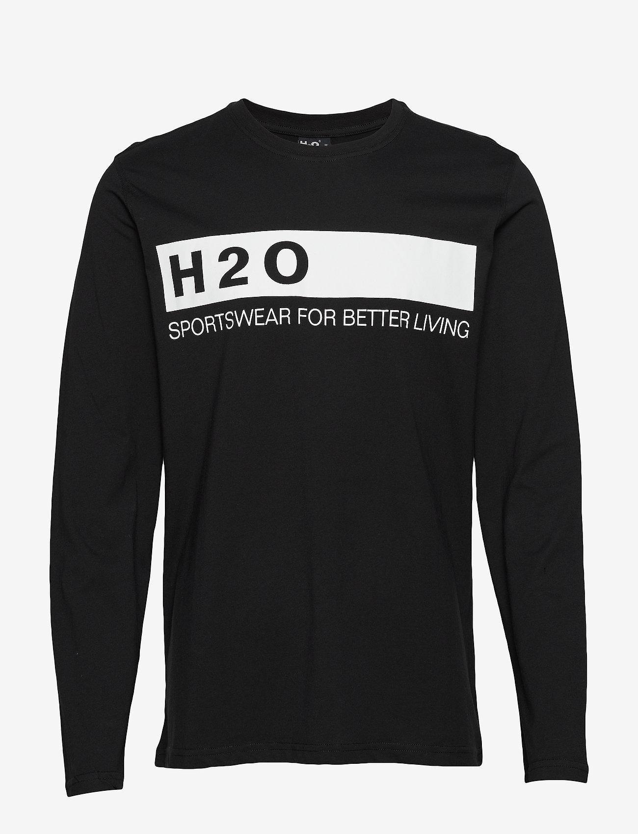 H2O - Samsø Tee L/S - pitkähihaiset - black - 0