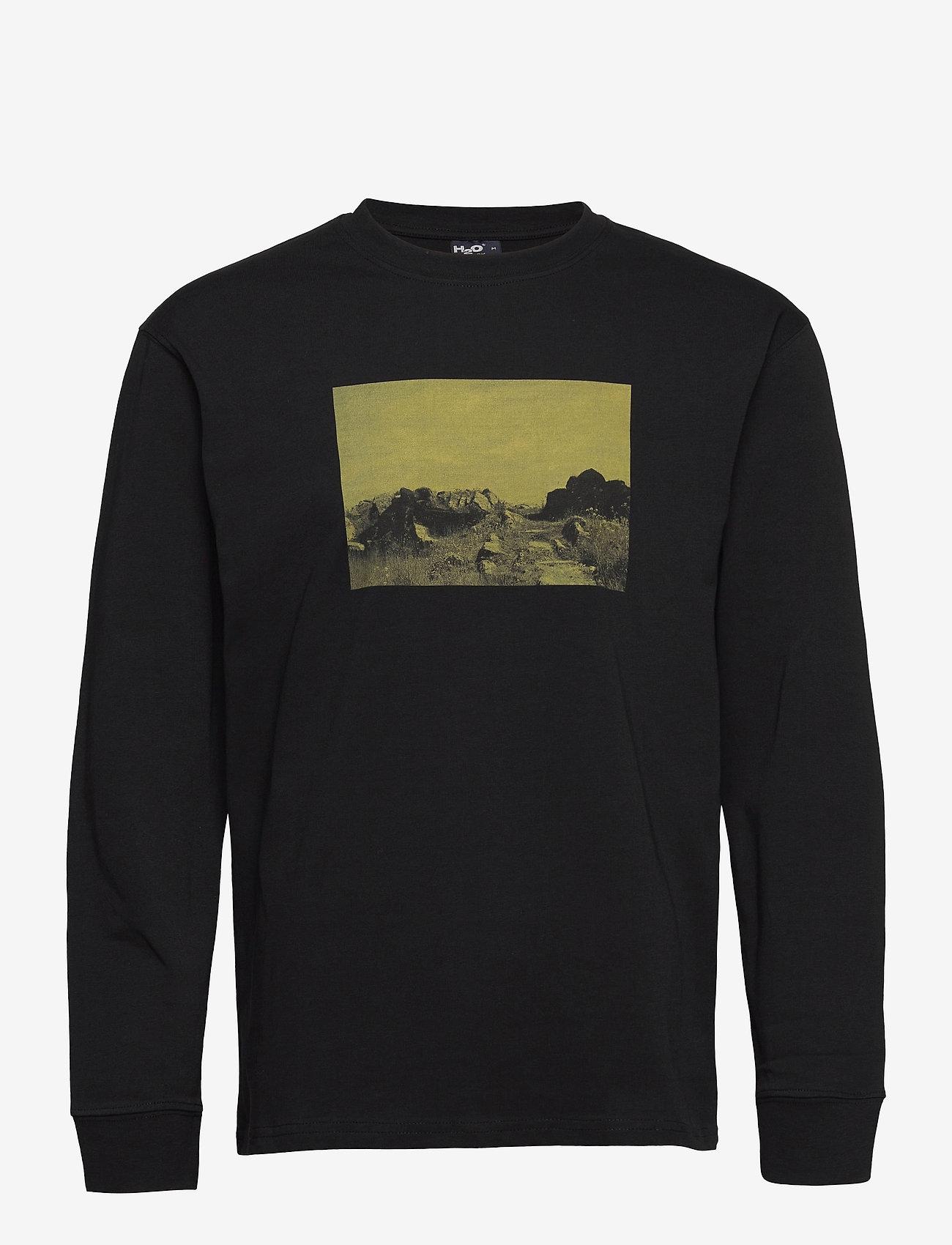 H2O - Romø Tee L/S - langærmede t-shirts - black - 0