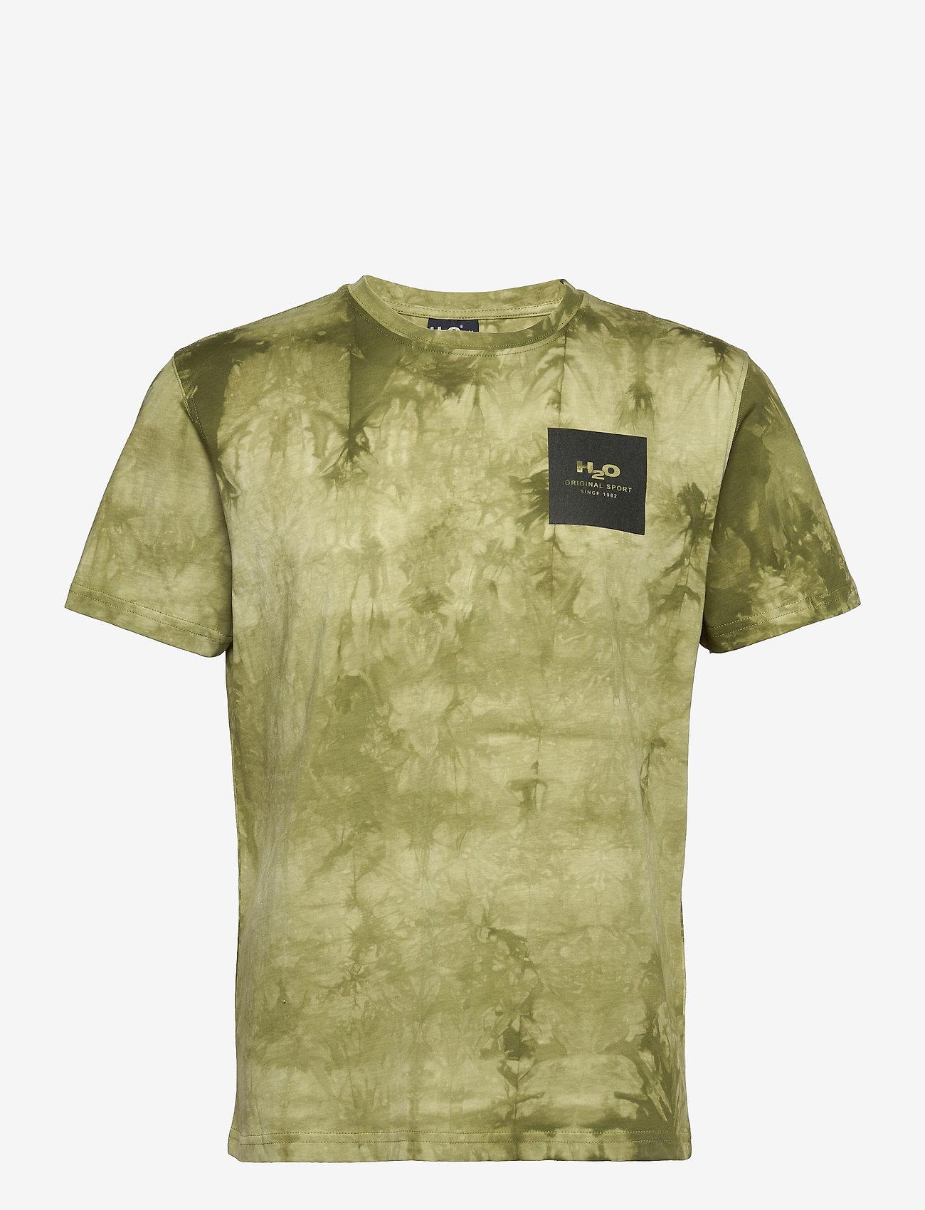 H2O - Ribe Tie Dye Tee - kortærmede t-shirts - army avocado - 0
