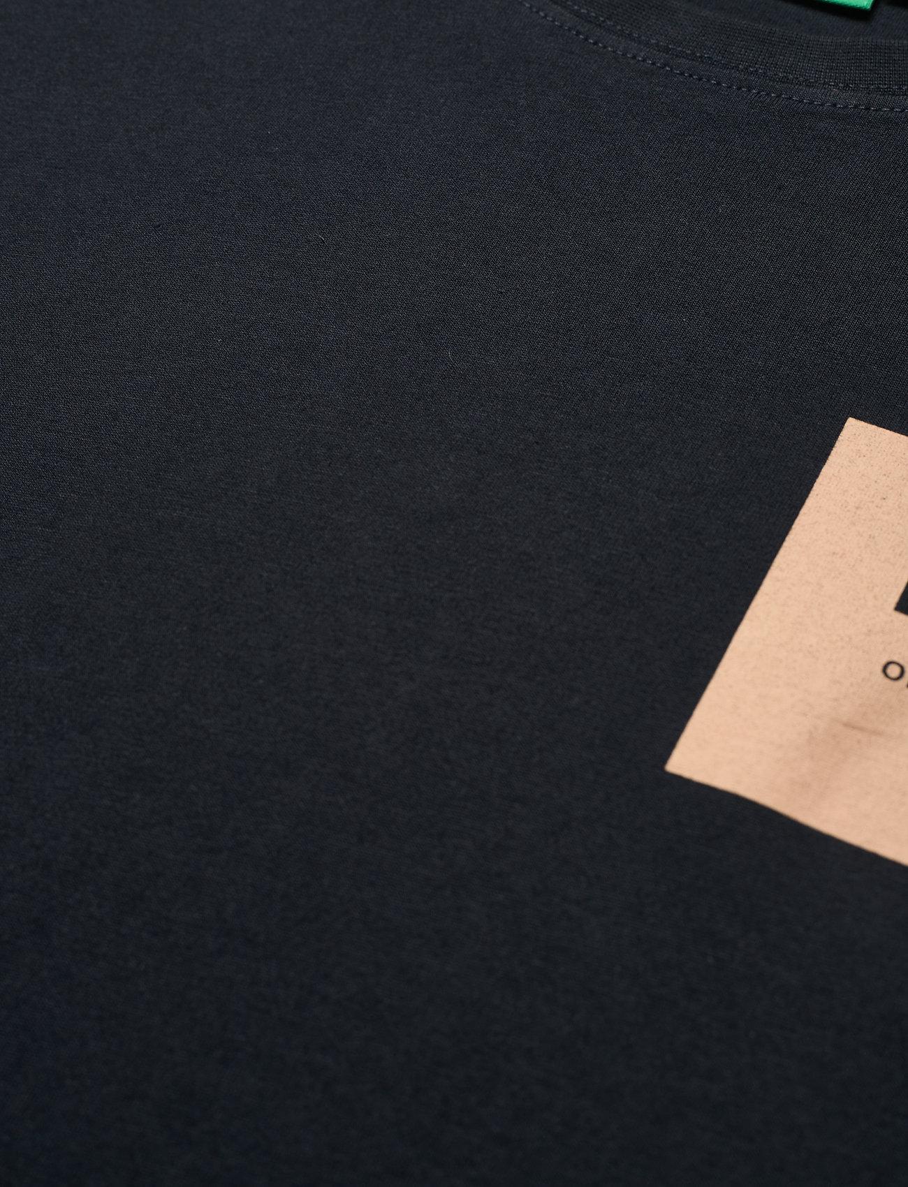H2O - Lyø Organic Tee - podstawowe koszulki - navy/sand - 2