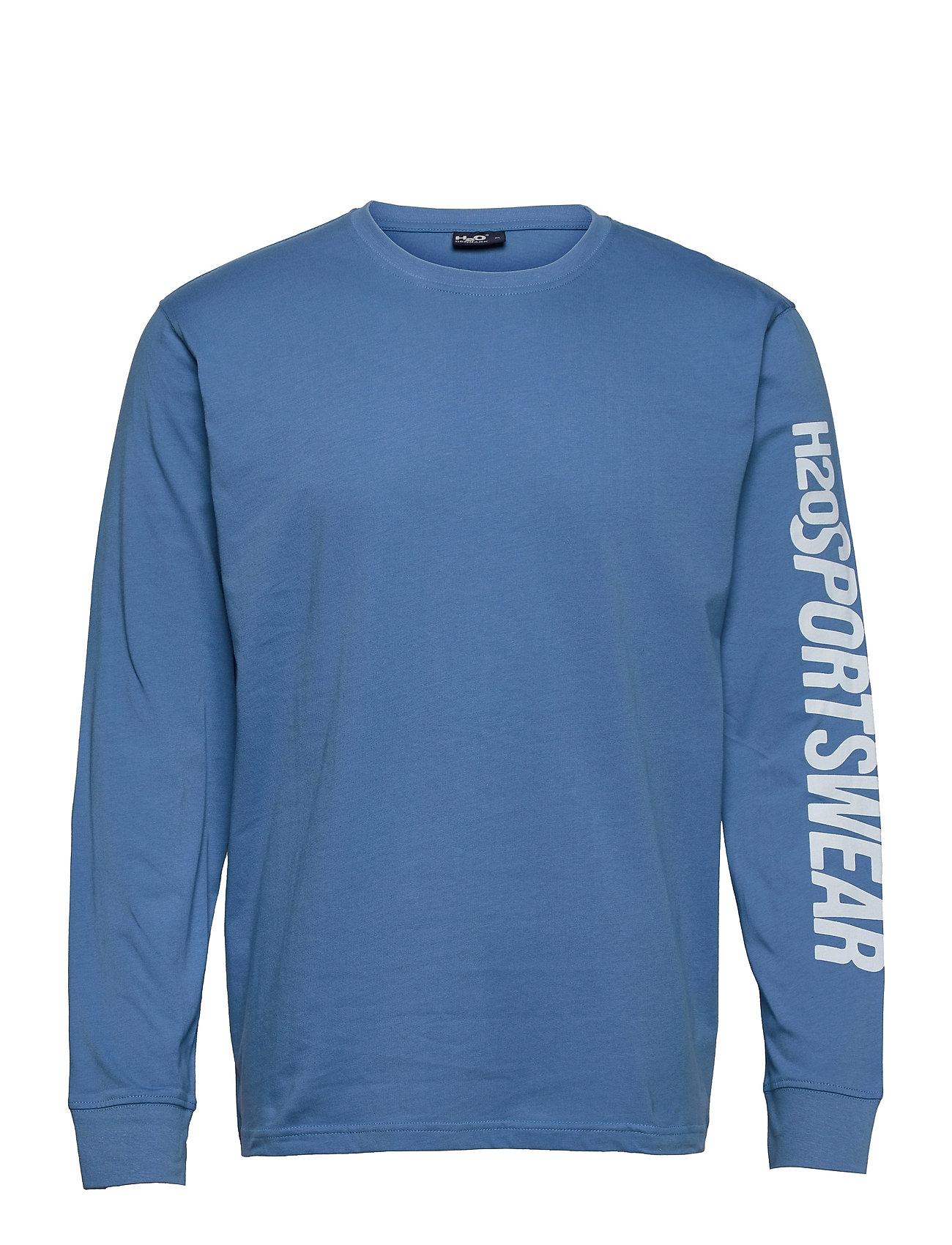 BjøRnø Tee L/S T-Langærmet Skjorte Blå H2O