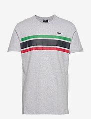 H2O - Gilleleje Tee - kortærmede t-shirts - lt. grey mel/green/red/navy - 0