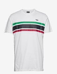 H2O - Gilleleje Tee - kortærmede t-shirts - white/green/red/navy - 0