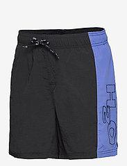 H2O - Hornbæk Shorts - rennot shortsit - navy/white/royal blue - 2