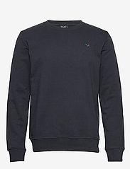 H2O - Lind Logo Sweat O'neck - basic sweatshirts - navy - 0