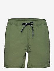 H2O - Leisure Swim Shorts - uimashortsit - army - 0