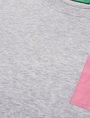 H2O - Lyø Organic Tee - basic t-shirts - lt. grey mel/sachet pink - 2