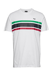 Gilleleje Tee - WHITE/GREEN/RED/NAVY