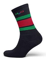 Crew Sock - NAVY/GREEN/RED