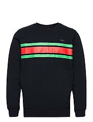 Gilleleje Sweat O'neck - NAVY/GREEN/RED