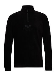 Blåvand II Fleece Half Zip - BLACK