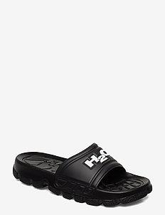 Trek Sandal - pool sliders - black/white