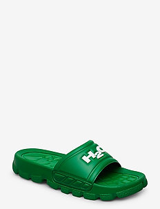 Trek Sandal - pool sliders - green/white