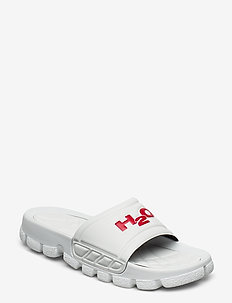 Trek Sandal - pool sliders - white/red