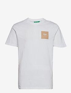 Lyø Organic Tee - basic t-shirts - white/sand