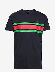 Gilleleje Tee - krótki rękaw - navy/green/red
