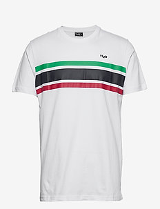 Gilleleje Tee - krótki rękaw - white/green/red/navy