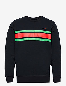Gilleleje Sweat O'neck - góry - navy/green/red