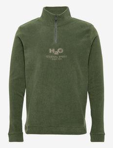 Blåvand II Fleece Half Zip - swetry - army