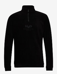 Blåvand II Fleece Half Zip - midlayer-jakker - black