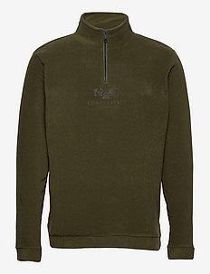 Blåvand II Fleece Half Zip - mid layer jackets - light army
