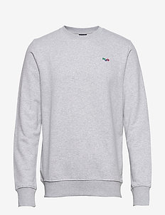 Lind Logo Sweat O'neck - basic sweatshirts - lt. grey mel