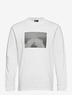 Romø Tee L/S - langærmede t-shirts - white