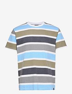 Maribo Tee - kortærmede t-shirts - white/grey/blue bell/army/navy