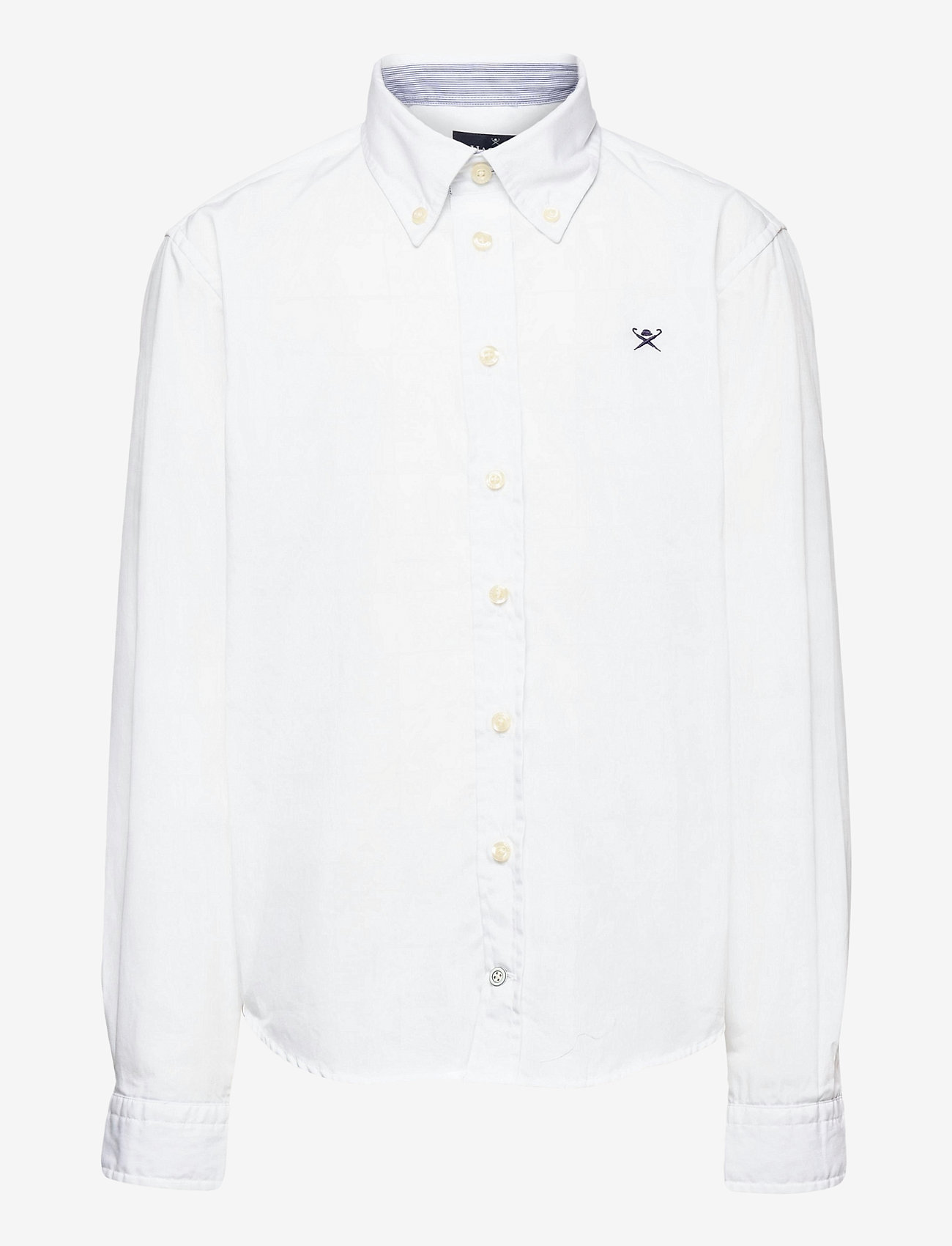 Hackett London - PLAIN POPLIN Y - overhemden - 800white - 0