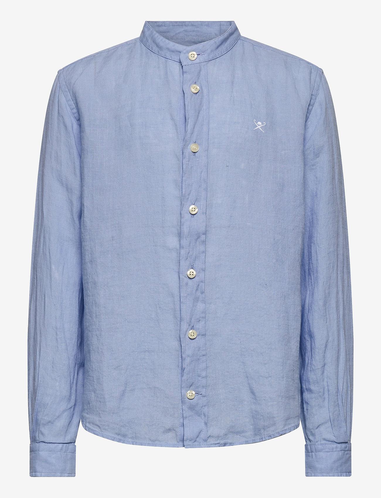 Hackett London - PLAIN LINEN Y - shirts - 513sky - 0
