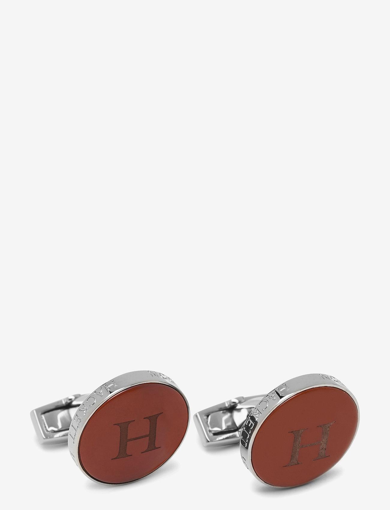 Hackett London - RND SMI PRCUS EGRD H - manschettknappar - 2amred/silver - 0