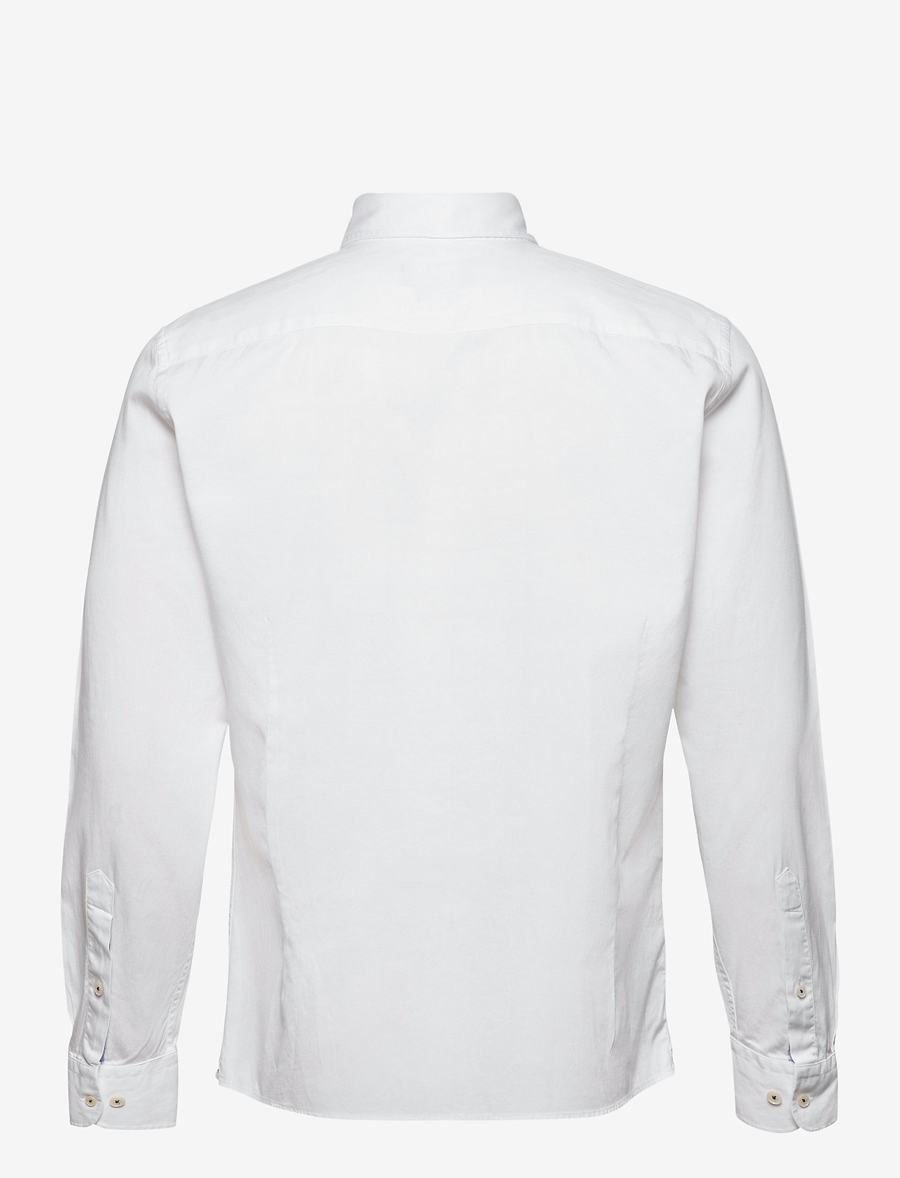 Hackett London CO TENCEL PIECE DYE - Skjorter WHITE - Menn Klær