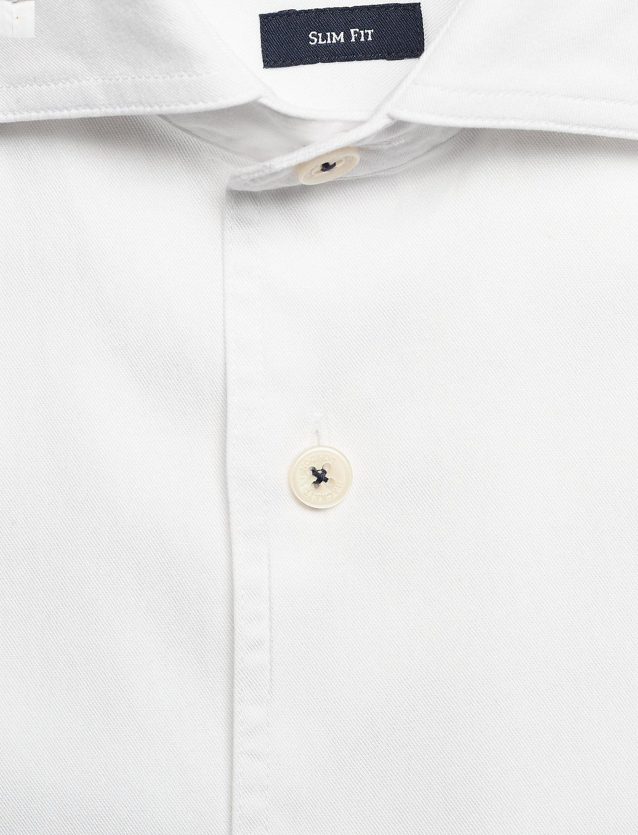 Hackett London CO TENCEL PIECE DYE - Skjorter WHITE - Menn Klær